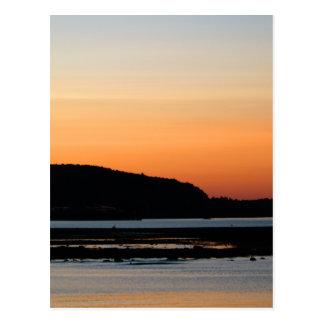 Sonnenuntergang an Bar-Hafen 2009 Postkarte