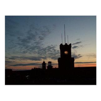 Sonnenuntergang an der Clocktower Postkarte