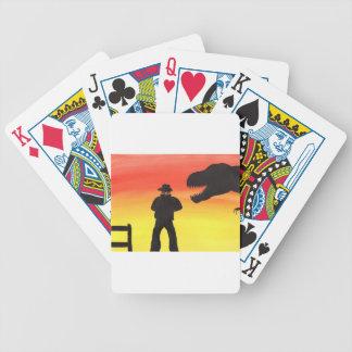 Sonnenuntergang an der Dinosaurier-Ranch Bicycle Spielkarten