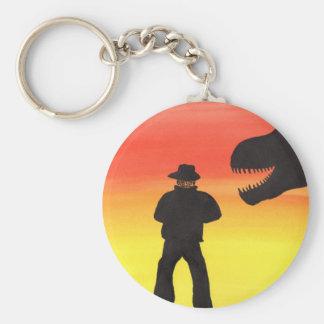 Sonnenuntergang an der Dinosaurier-Ranch Schlüsselanhänger