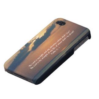 Sonnenuntergang an der Meer-Schrift iPhone 4 Etui
