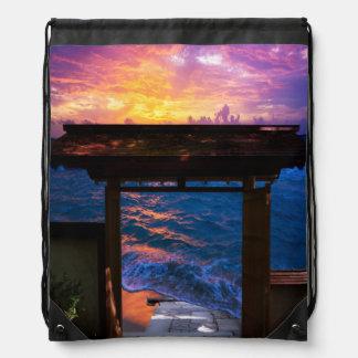 Sonnenuntergang an der Paradies-Bucht Sportbeutel