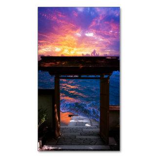 Sonnenuntergang an der Paradies-Bucht Visitenkartenmagnet