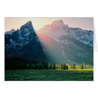Sonnenuntergang an Teton Nationalpark Karte
