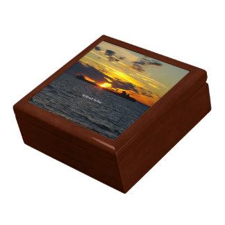 Sonnenuntergang-Andenkenkasten Wilfred Sykes Erinnerungskiste