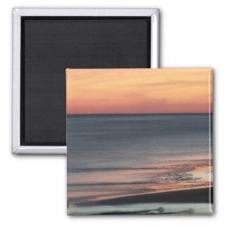 Sonnenuntergang-Anlass-Feier Texas Galveston Quadratischer Magnet