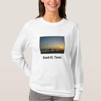 Sonnenuntergang auf dem Bucht lang-sleeved T - T-Shirt