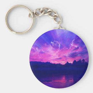 Sonnenuntergang auf dem Horizont Schlüsselanhänger