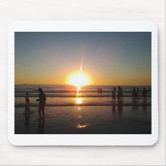 Sonnenuntergang auf dem Strand Mousepads