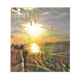 Sonnenuntergang auf dem Strand Notizblock