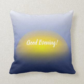 Sonnenuntergang auf dem Wasserdruck mit Blues u. Kissen