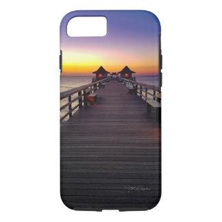 Sonnenuntergang auf den Pier-Telefon-Hüllen iPhone 8/7 Hülle
