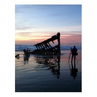 Sonnenuntergang auf der Oregon-Küste Postkarte
