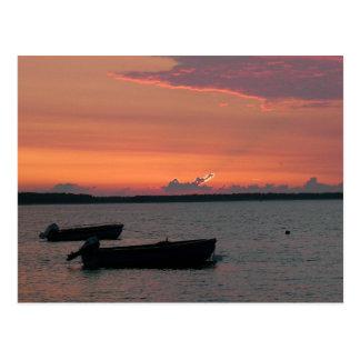 Sonnenuntergang auf der Ostsee Postkarte
