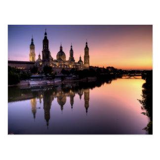 Sonnenuntergang auf Ebro Postkarte