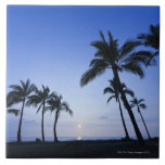 Sonnenuntergang auf Kahaluu Bucht in Kona, Hawaii Keramikfliese