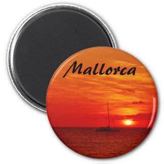 Sonnenuntergang auf Mallorca - Andenken-Magnet Runder Magnet 5,1 Cm