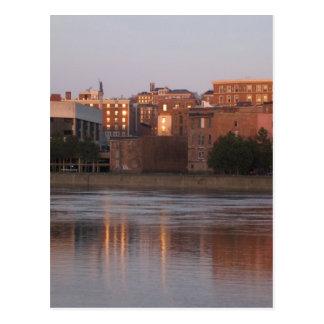 Sonnenuntergang auf Monumentquadrat Postkarte