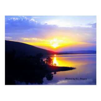 Sonnenuntergang auf Sardis See Postkarte