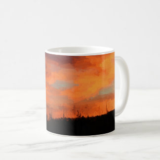 Sonnenuntergang auf Swan See Kaffeetasse