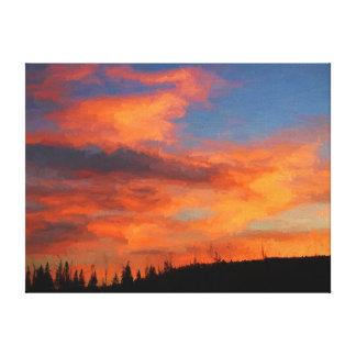 Sonnenuntergang auf Swan See Leinwanddruck