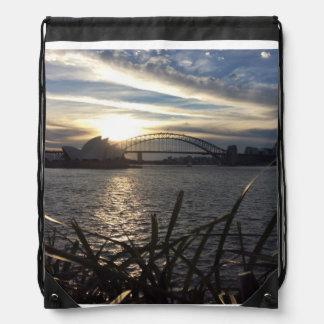 Sonnenuntergang auf Sydney-Hafen Sportbeutel
