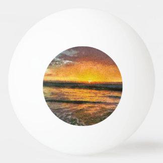 Sonnenuntergang auf Wasser Tischtennis Ball