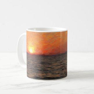 Sonnenuntergang auf Yellowstone See Kaffeetasse
