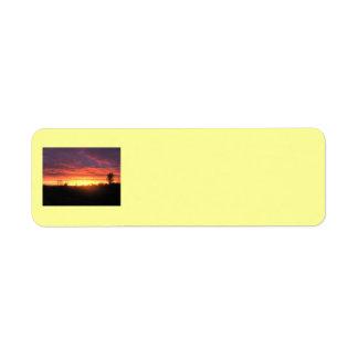 Sonnenuntergang-Aufkleber