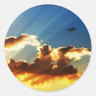 Sonnenuntergang-Aufkleber Runder Aufkleber