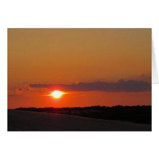 Sonnenuntergang-äußere Banken Karte