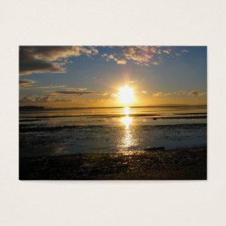 Sonnenuntergang bei Ebbe Jumbo-Visitenkarten