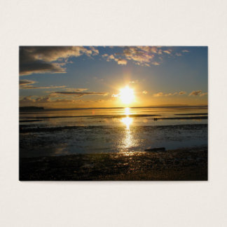 Sonnenuntergang bei Ebbe Visitenkarte