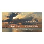 Sonnenuntergang-Beileid danken Ihnen ErinnerungsFo Bilderkarte