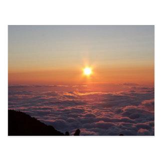 Sonnenuntergang beim Fujisan Postkarte
