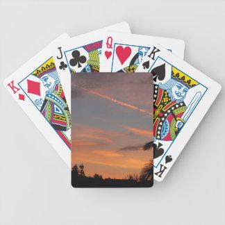 Sonnenuntergang Bicycle Spielkarten
