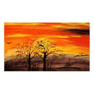 """""""Sonnenuntergang"""" Bild von Eva Borowski Visitenkarten Vorlagen"""