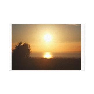Sonnenuntergang Bush Leinwanddruck