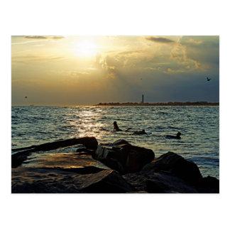Sonnenuntergang Cape May Postkarte