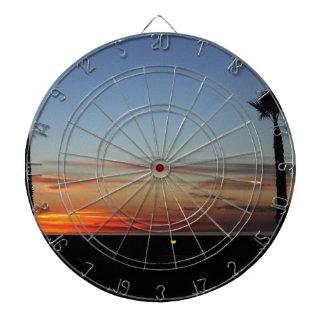 Sonnenuntergang Dartscheibe