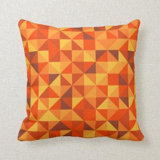 Sonnenuntergang-Dreieck-Muster Kissen