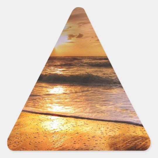 Sonnenuntergang Dreieckiger Aufkleber