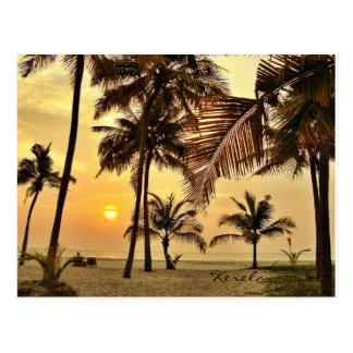 Sonnenuntergang durch das Meer Postkarte