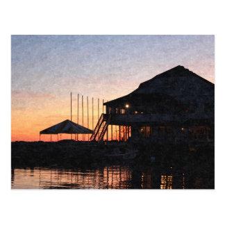 Sonnenuntergang durch den See, Kingston, Ontario, Postkarte