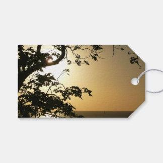 Sonnenuntergang durch tropische Fotografie der Geschenkanhänger