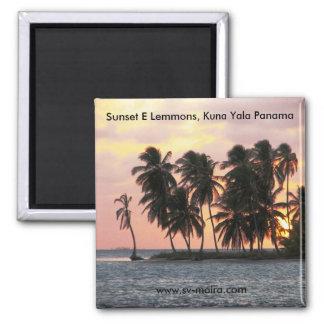 Sonnenuntergang, E Lemmons, Kuna Yala, Panama Quadratischer Magnet