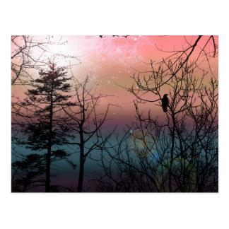 Sonnenuntergang-Einsamkeits-gotische Postkarte