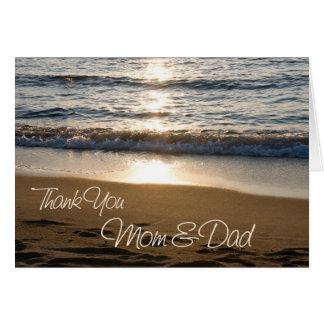 Sonnenuntergang-Eltern-Hochzeitstag danken Ihnen z Grußkarten