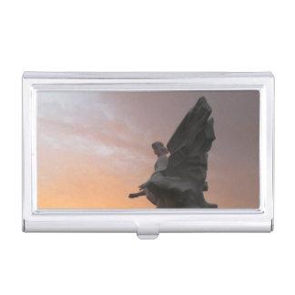 Sonnenuntergang-Engel - Ukraine Visitenkarten-Behälter