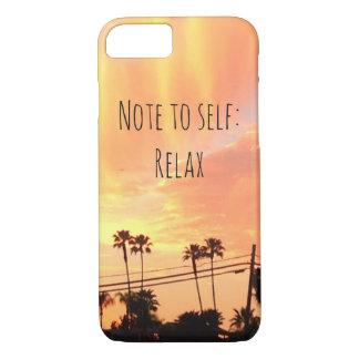 Sonnenuntergang entspannen sich iPhone Fall iPhone 8/7 Hülle